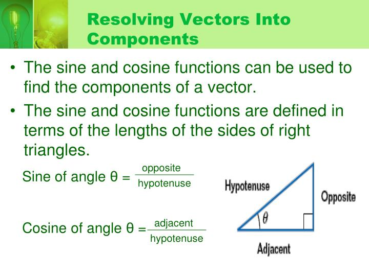 Resolving Vectors Into Components