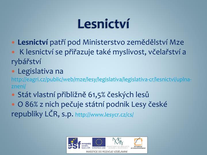 Lesnictv