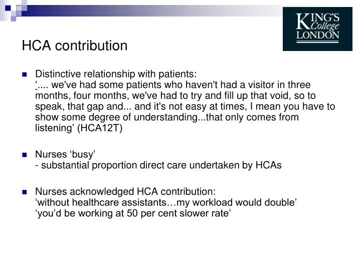 HCA contribution