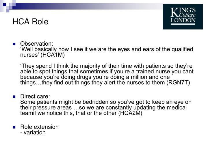 HCA Role
