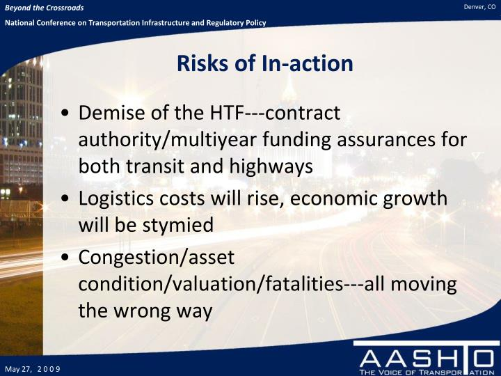 Risks of In-action