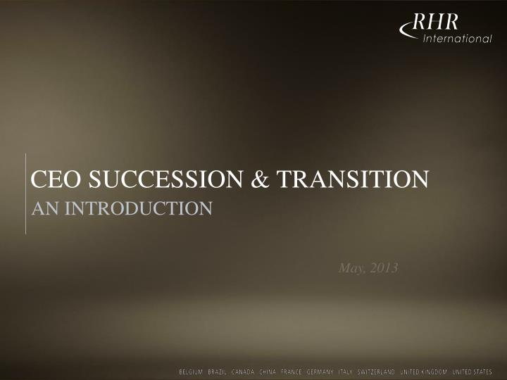 ceo succession transition n.