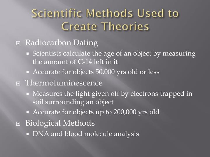 Scientific Methods Used to Create Theories