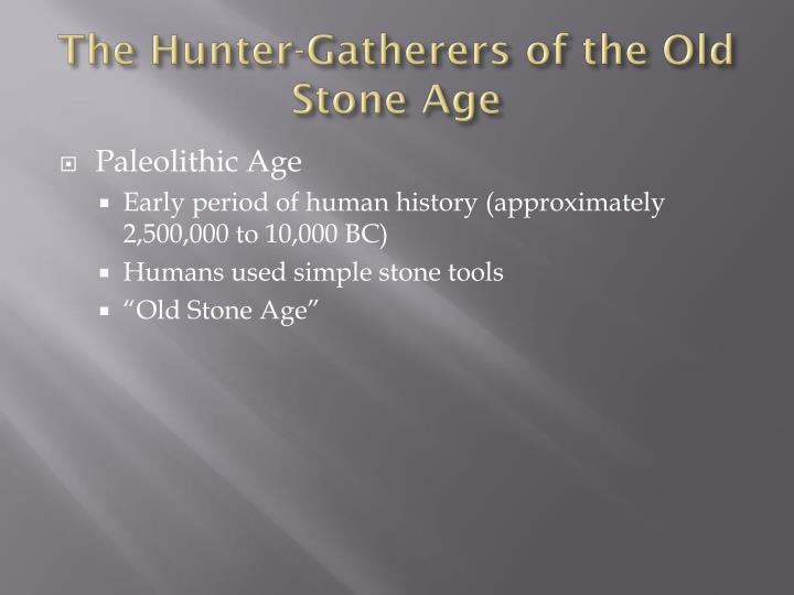 The Hunter-Gatherers of the Old Stone Age
