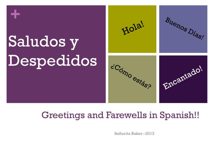 greetings and farewells in spanish n.
