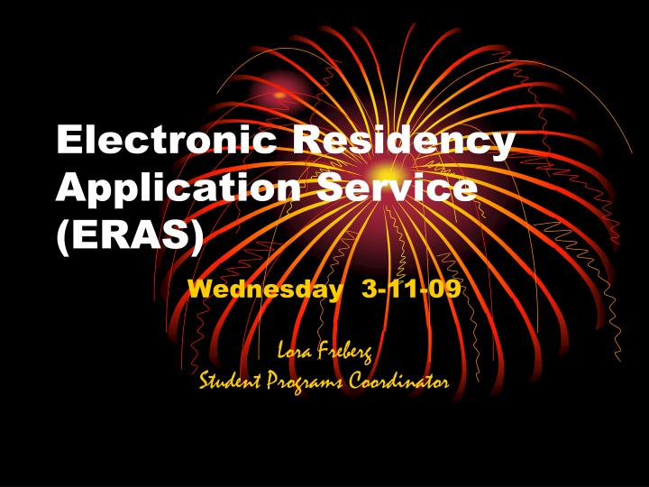 electronic residency application service eras n.