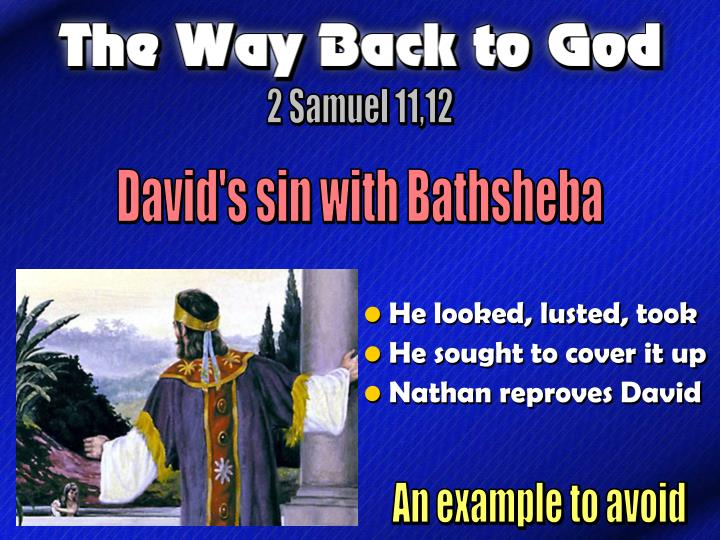 Davids Sin With Bathsheba