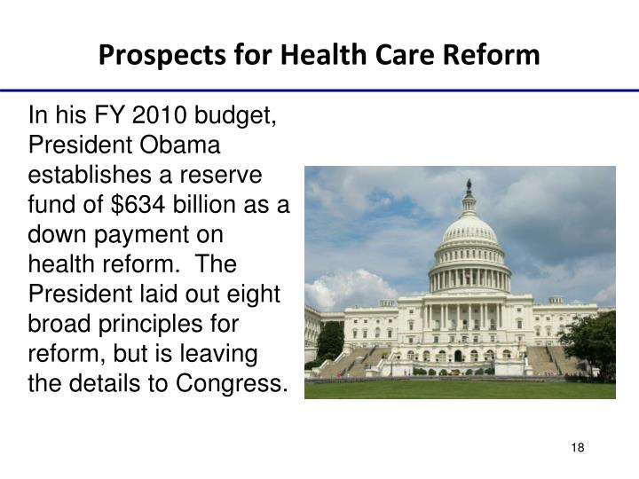 Prospects for Health Care Reform