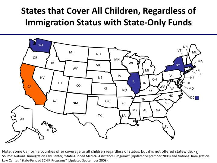States that Cover All Children, Regardless of Immigration Status with State-Only Funds