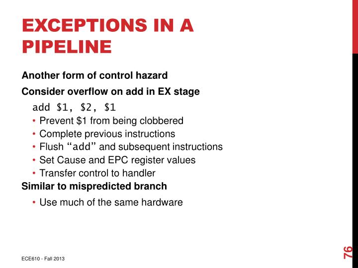Exceptions in a Pipeline