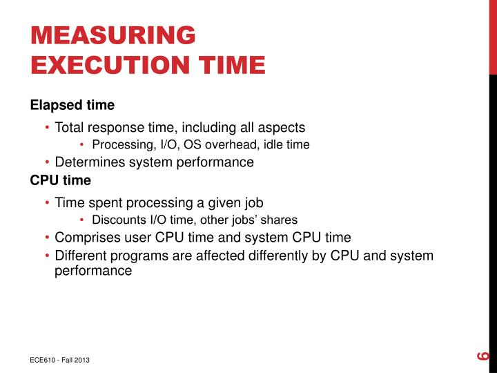Measuring Execution Time