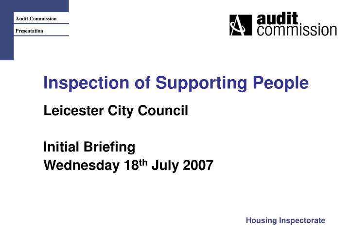 inspection of supporting people n.