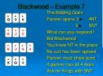 blackwood example 7