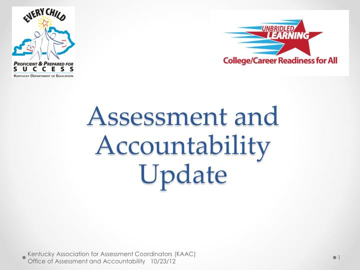 assessment and accountability update n.