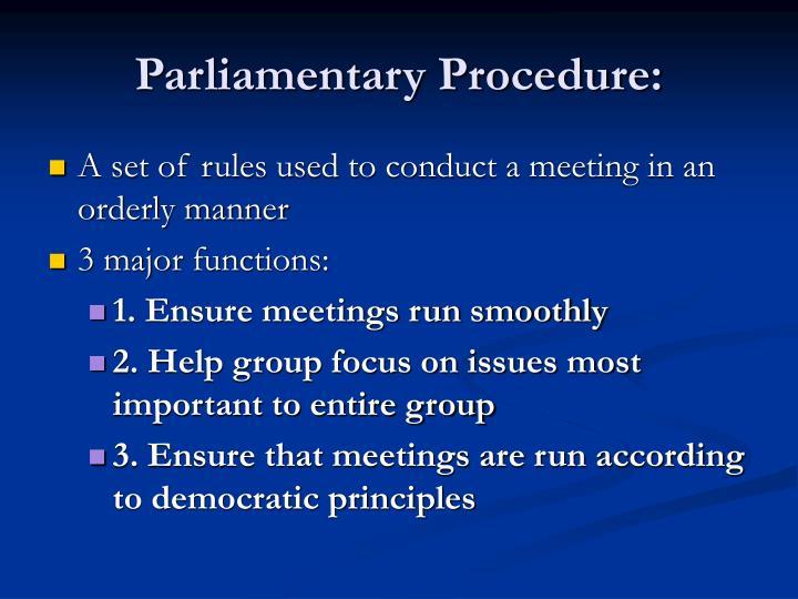 Parliamentary procedure1