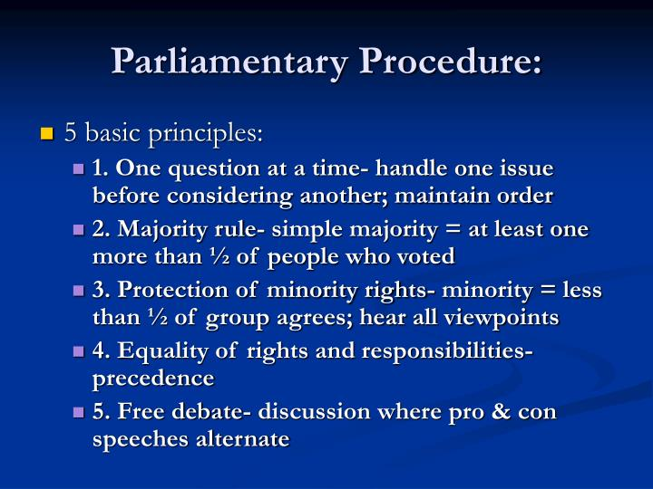 Parliamentary procedure2