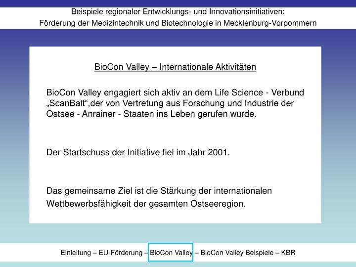 BioCon Valley – Internationale Aktivitäten