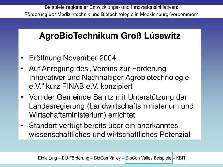 AgroBioTechnikum Groß Lüsewitz