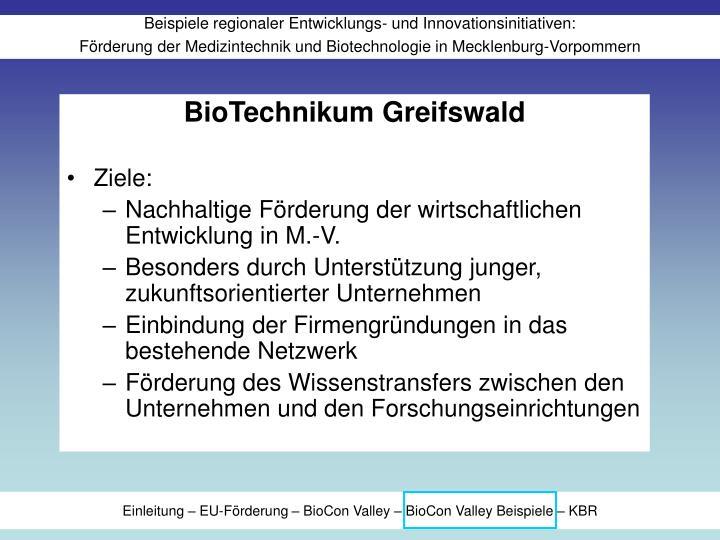 BioTechnikum Greifswald