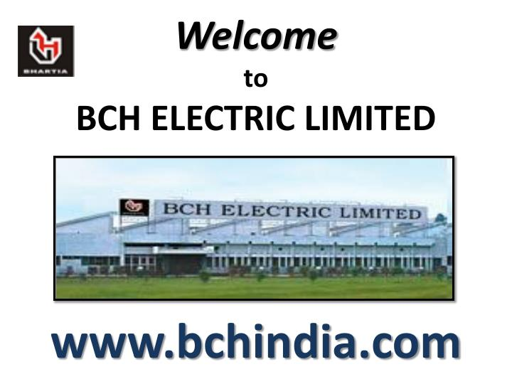 welcome to bch electric limited n.