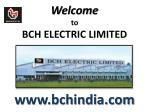 welcome to bch electric limited