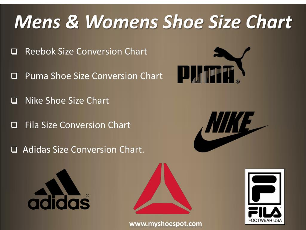 Ppt Shop Your Favorite Shoes With The Help Of Shoe Size Chart