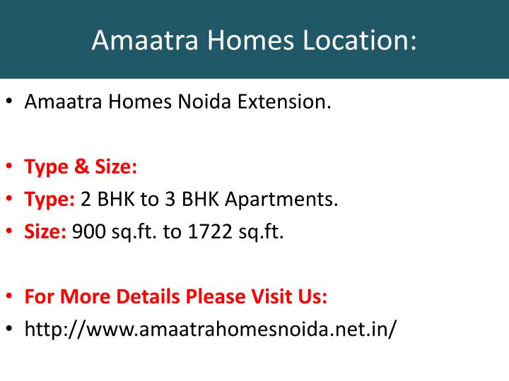 Amaatra homes location