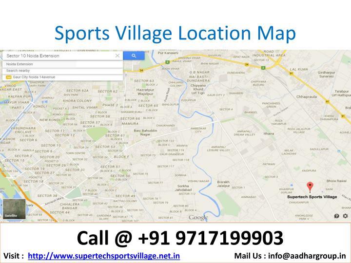 Sports Village Location Map