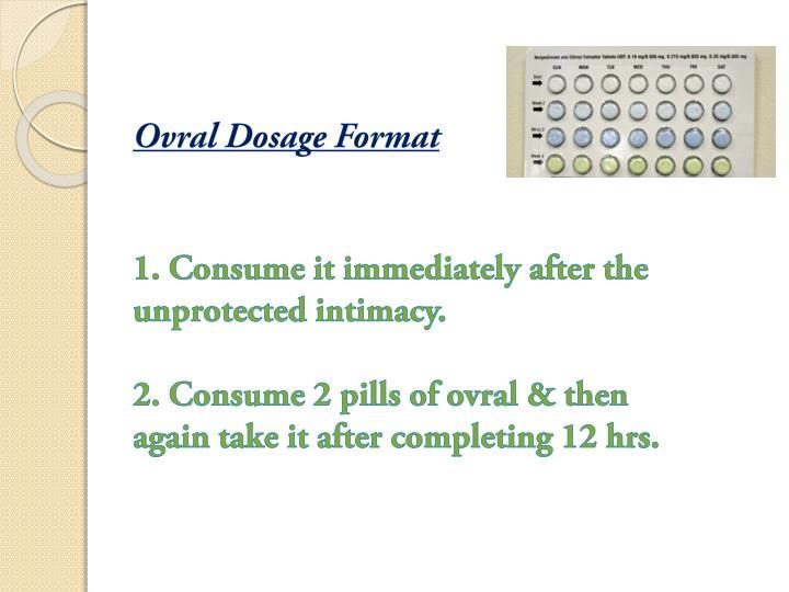 Ovral Dosage Format