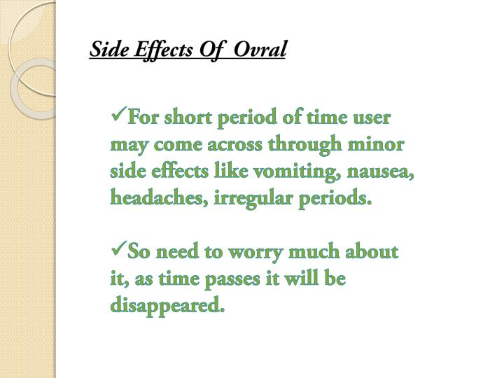 Side Effects Of  Ovral