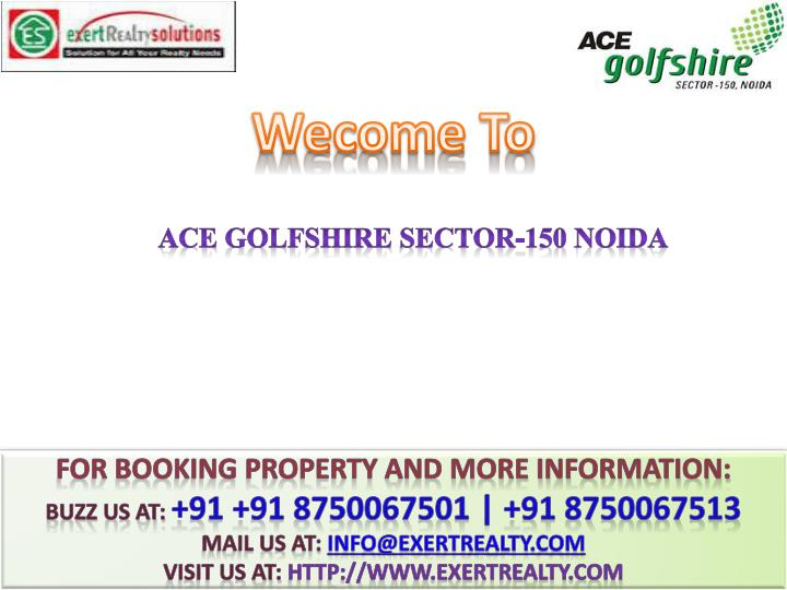 ace golfshire sector 150 noida n.