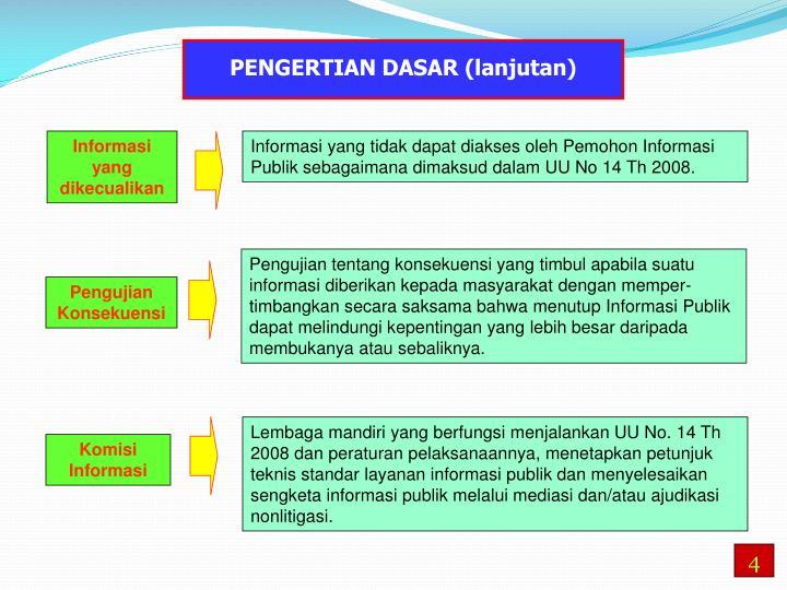 PENGERTIAN DASAR (lanjutan)