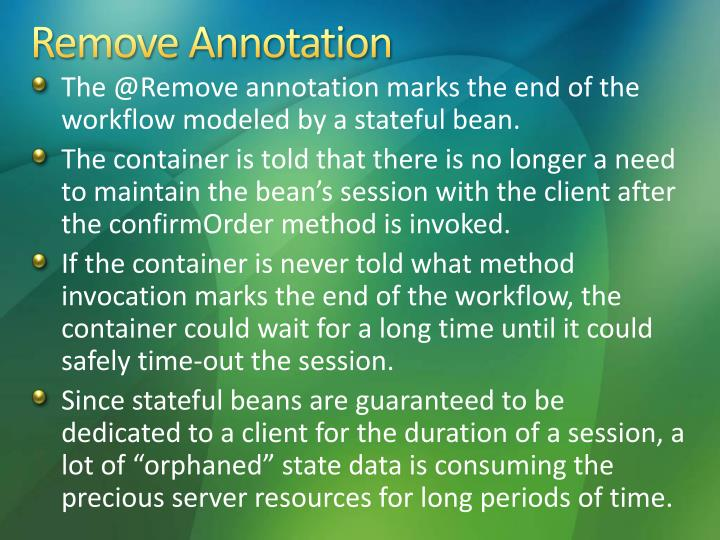 Remove Annotation