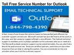 toll free service number for outlook1