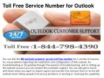 toll free service number for outlook2