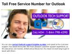 toll free service number for outlook5
