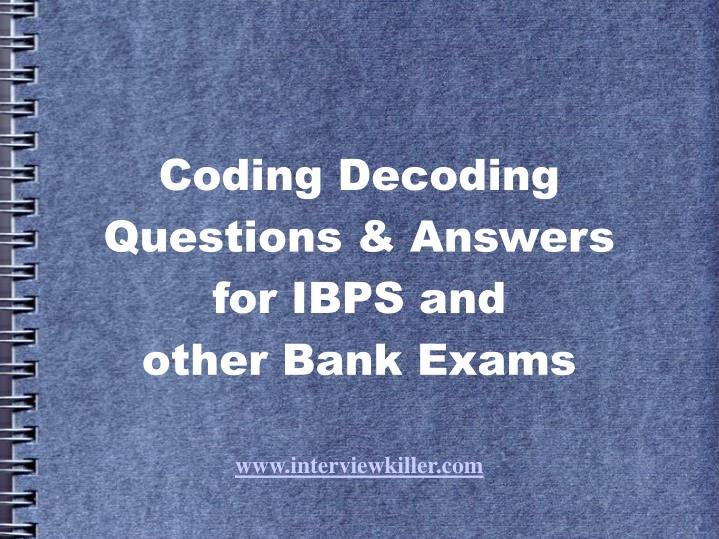 Coding and Decoding - cpt.hitbullseye.com