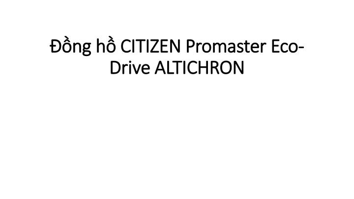 ng h citizen promaster eco drive altichron n.