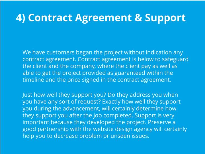 4) Contract Agreement & Support