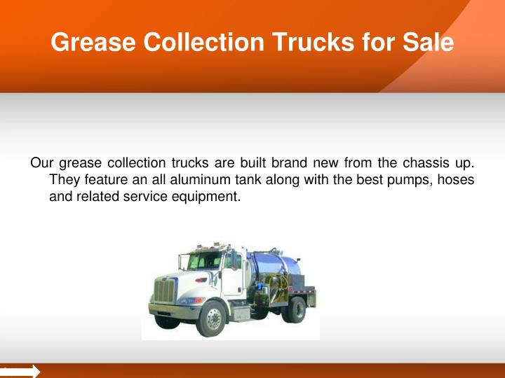 Grease collection trucks for sale
