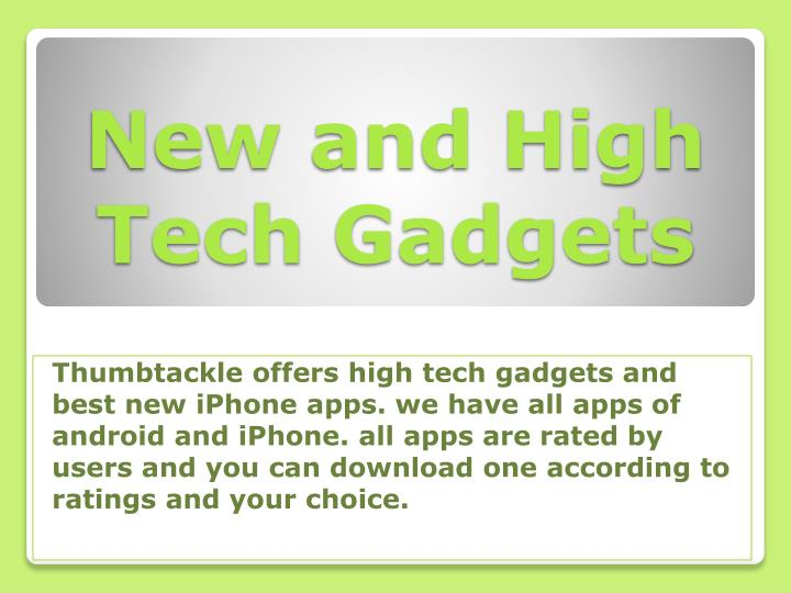 new and high tech gadgets n.