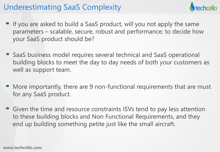 Underestimating SaaS Complexity