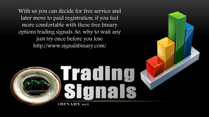 Paid trading signals