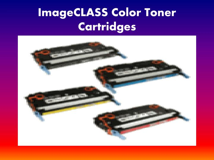 Imageclass color toner cartridges