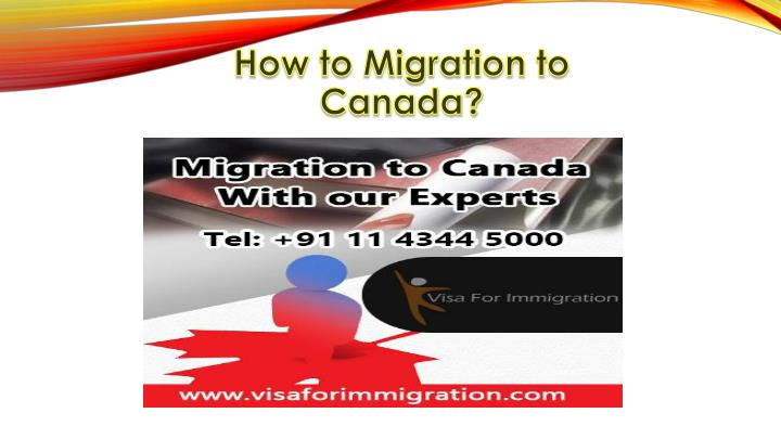 How to migration to canada