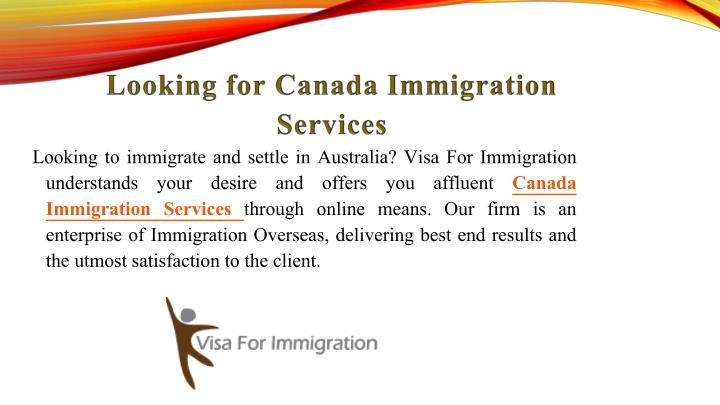 Looking for Canada Immigration Services