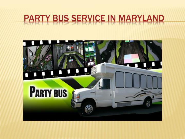 party bus service in maryland n.
