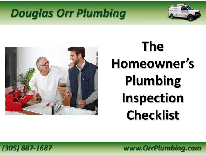 the homeowner s plumbing inspection checklist n.