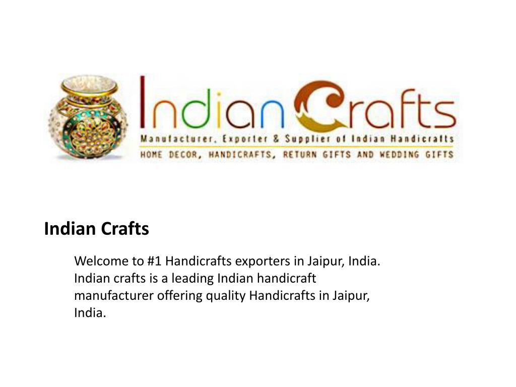 Ppt Indian Handicrafts Powerpoint Presentation Id 7109936