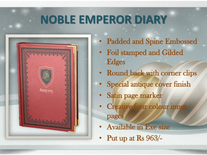 NOBLE EMPEROR DIARY